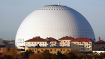 The Ericsson Globe  or Globen  in Stockholm is the worlds largest spherical building It was designed by Berg Arkitektkontor opened in  and has a diameter of  metres and a ceiling height of  metres