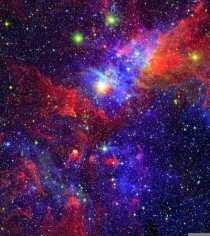 The Eta Carinae Nebula seen in infrared light  X