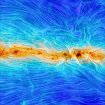 The European Space Agency reports that this image captured by the Planck spacecraft is among the first to reveal the shape of the Milky Ways magnetic field