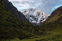 The evening before we made our way up the Salkantay Pass Peru