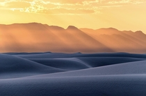 The evening light over the shadowed dunes of White Sands NM was absolutely gorgeous