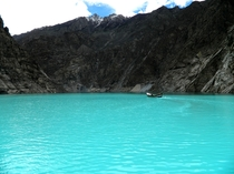 The ever-blue Attabad Lake in Gilgit-Baltistan Pakistan  x-post rExplorePakistan