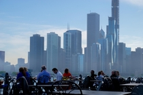 The ever-changing Chicago skyline as seen from Navy Pier