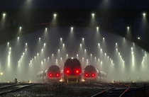 The evil look of these trains Train station is in Denmark