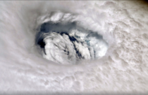 The eye of Hurricane Dorian taken from the International Space Station