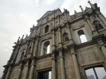 The Facade of St Pauls Cathedral - Macau China