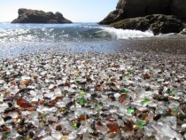 The Fading Glass Beach in Fort Bragg California