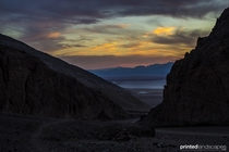The fading sun inside Death Valley California