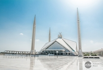 The Faisal Mosque Islamabad - Architect Vedat Dalokay who originally designed it for Ankara Turkey  x-post rExplorePakistan