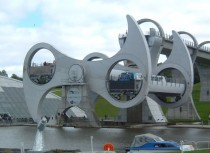 The Falkirk Wheel a rotating boat lift in Central Scotland