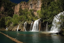 The falls at Hanging Lake Colorado