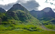 The famous Glen Coe Scotland