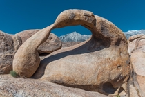 The famous Mobius Arch Alabama Hills Lone Pine California USA