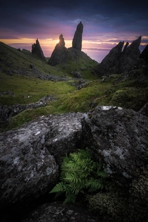 The famous Old Man of Storr in Scotland