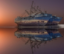 The famous ships in the Doha Ship Graveyard  photo by Abdullah Alabbad