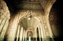 The fantastic designs inside the The Badshahi Mosque or the Kings Mosque in Lahore