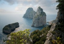 The Faraglioni  stone stacks of of the coast of Capri Italy