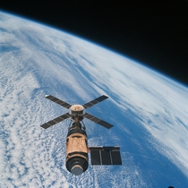 The final crew departing Skylab on February