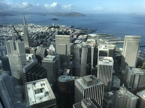 The financial district from the top floor of Salesforce Tower San Francisco