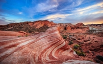 The Fire Wave  Valley of Fire State Park Nevada Not quite as impressive as The Wave in AZ but Ill take its bacon-like cousin anyway   x  px