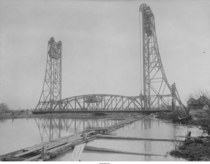 The first bridge a vertical lift at St Georges Delaware across the Chesapeake and Delaware Canal  Now replaced by the third bridge the Chesapeake amp Delaware Canal Bridge in  The canal has been widened and is now at sea level carrying  of Baltimores ship