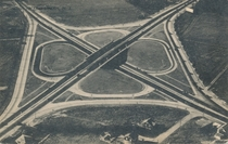 The First Cloverleaf Interchange in the World- Woodbridge NJ Built in  to link Routes  and  it was replaced with a Parclo in