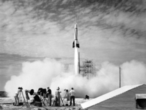 The first ever rocket launched at Cape Canaveral July   The RTV-G- Bumper rocket was used to study problems pertaining to two-stage high-speed rockets