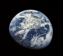 The first image ever taken by humans of the whole Earth Photographed by the crew of Apollo  in