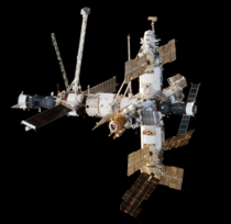 The first permanent space station built by humans - Mir