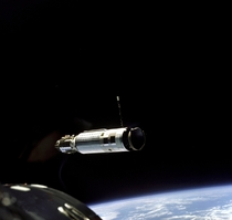The First Space Docking Between the Agena Target Vehicle and Gemini  March