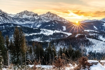 The first sunset of the year wasnt that bad Austrian Alps