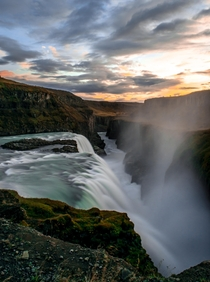 The first waterfall I visited in Iceland Gullfoss