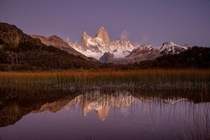 The Fitz Roy just a few minutes before the sunrise - El Chalten - Argentina  Instagram micomicky