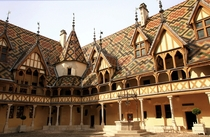 The flamboyant Hospices de Beaune Bourgogne France