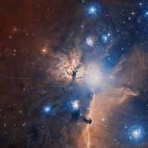 The Flame Nebula around Orions belt  light-years away