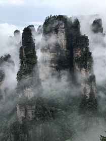 The floating mountains of Zhangjiajie in China