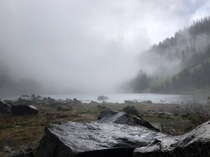 The fog made for a very wet hike and some very dramatic lighting