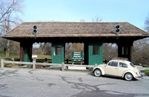 The Former Greenwich Tollbooth on the Merritt Parkway Now a museum piece in Stratford CT