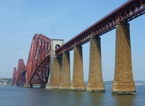 The Forth Bridge Scotland A km cantilever railway bridge it was built between  and  and cost the lives of  men