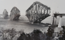 The Forth Railway Bridge under construction s Scotland Its still the worlds second longest cantilever span to this day