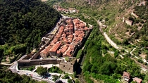The fortified village of Villefranche-de-Conflent France