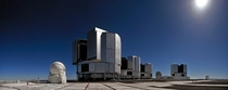 The four -metre Unit Telescopes of ESOs Very Large Telescope VLT in Cerro Paranal