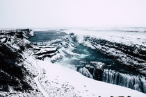 The frankly frightening power of the Gulfoss cascade in Iceland