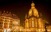 The Frauenkirche in Dresden Germany one of the most beautiful examples of baroque architecture in Europe