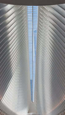 The Freedom Tower though the Oculus Santiago Calatrava