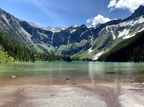 The frigid waters of Avalanche Lake Glacier National Park