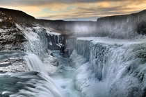 The frozen falls of Gulfoss Iceland  by John Freeman x-post rIsland