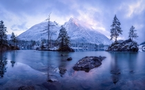 The Frozen Mountain - German Alps - Lake Hintersee x