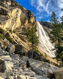 The  ft high Nevada Fall on the Merced River in Yosemite CA