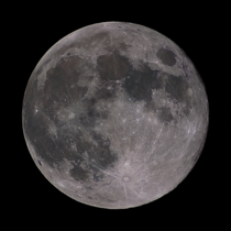 The Full moon from -- -   frames stacked - mm refractor and Nikon D